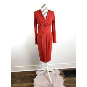 Armani Collezioni | Red long sleeve dress | Size 8